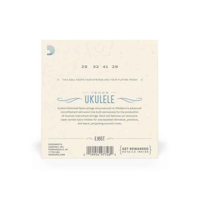 D'Addario - Clear Nylon Ukulele Strings, Tenor