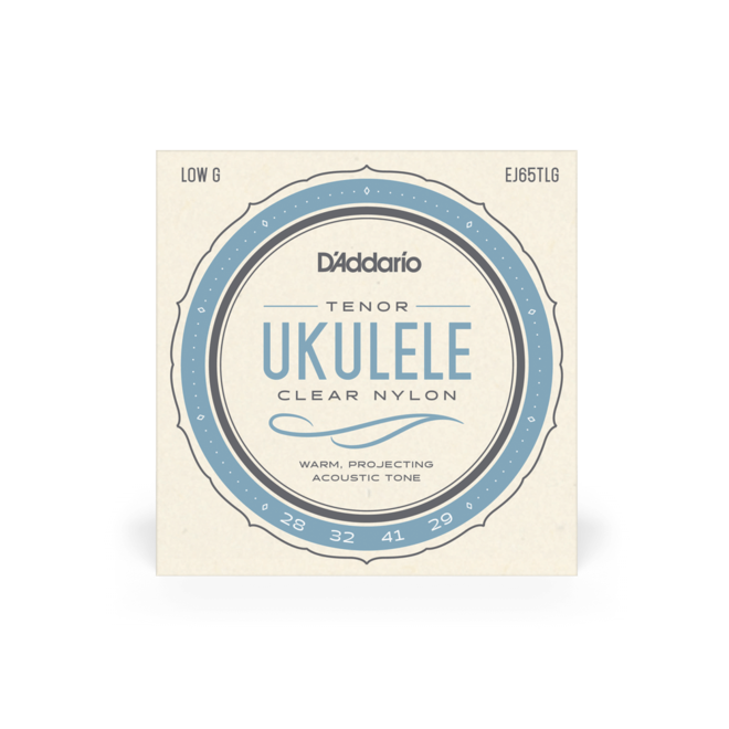 D'Addario - Clear Nylon Ukulele Strings, Tenor w/low G