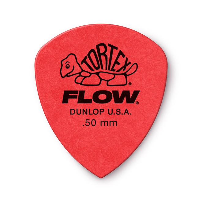 Jim Dunlop - .50 Red Tortex Flow Pick Players Pack (12)