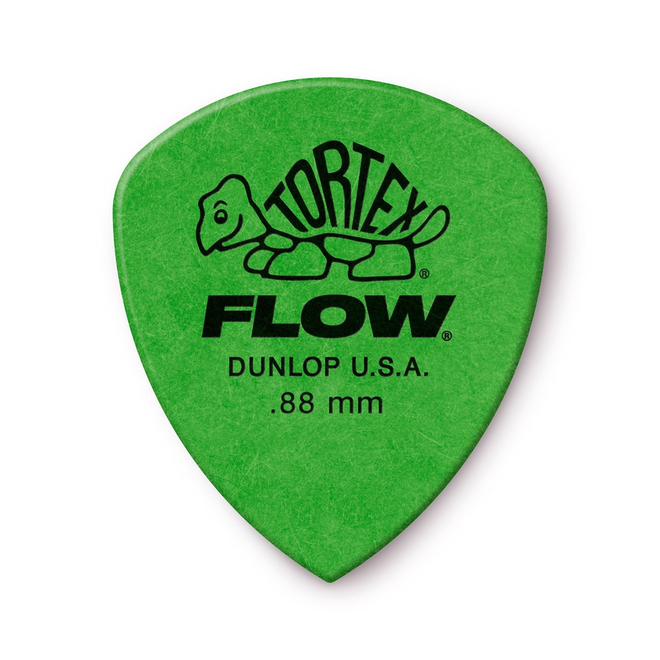 Jim Dunlop - .88 Green Tortex Flow Pick Players Pack (12)