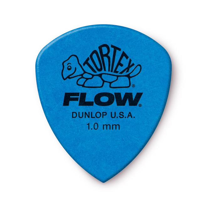 Jim Dunlop - 1.0 Blue Tortex Flow Pick Players Pack (12)