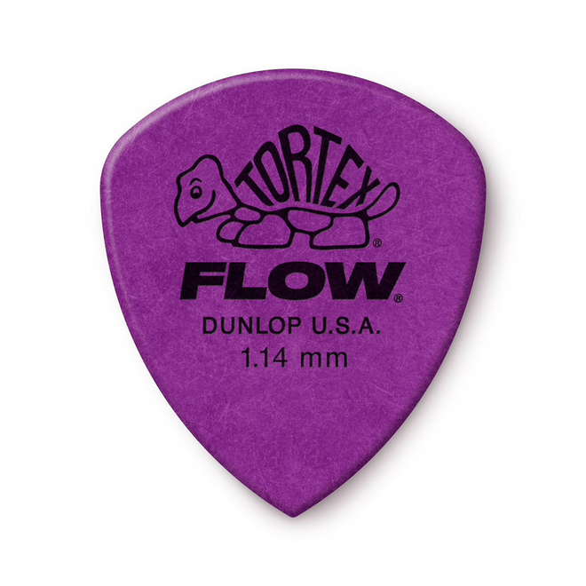 Jim Dunlop - 1.14 Purple Tortex Flow Pick Players Pack (12)