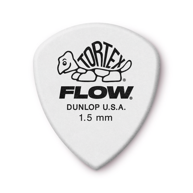 Jim Dunlop - 1.5 White Tortex Flow Pick Players Pack (12)