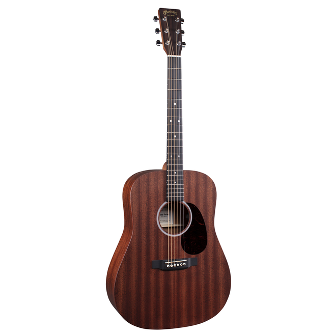 Martin - D-10E Road Series Dreadnought, All Solid Sapele/Sapele Satin, Fishman MX-T, Gigbag