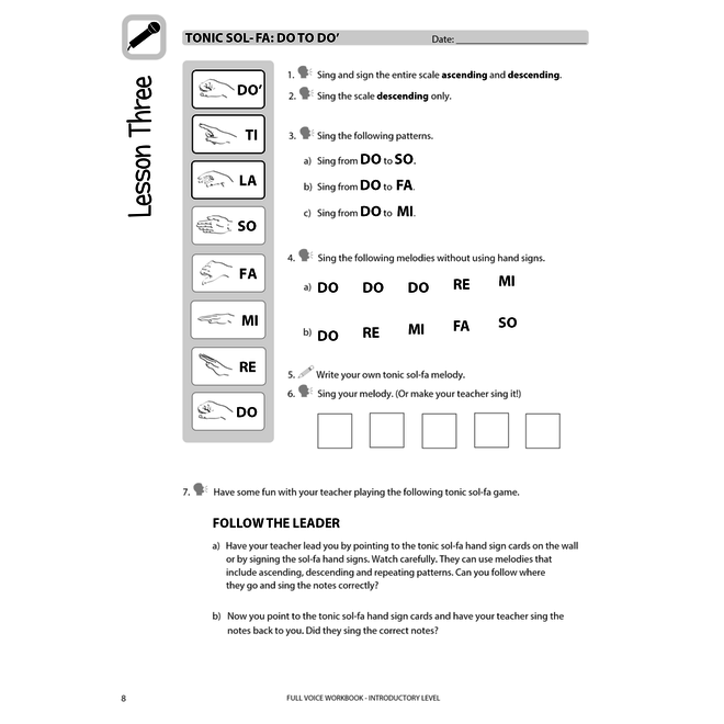 Full Voice Series Workbook, Introductory