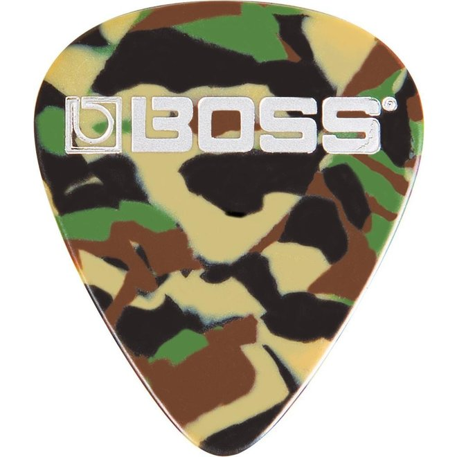 Boss - Celluloid Picks, Camo Medium (12)
