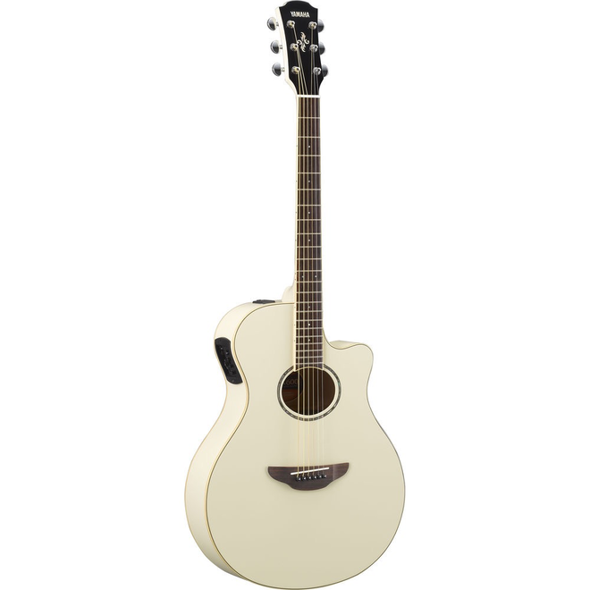 Yamaha - APX600 Acoustic Electric-Guitar, Vintage White