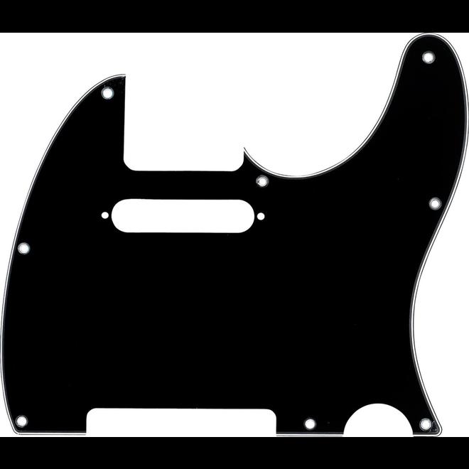 Fender - 3-Ply Black 8-Hole Mount Telecaster Pickguard, Black