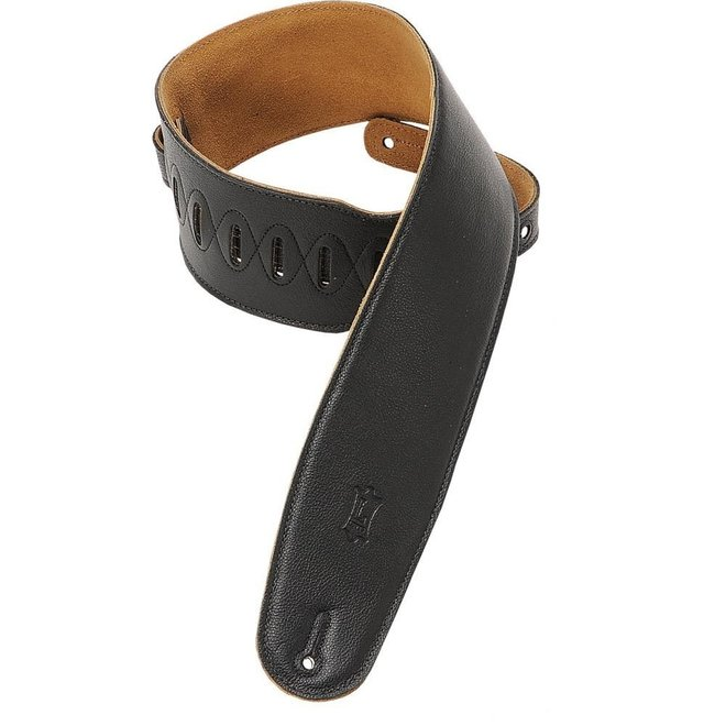 """Levy's - 3.5"""" Leather Strap w/padding, Black"""