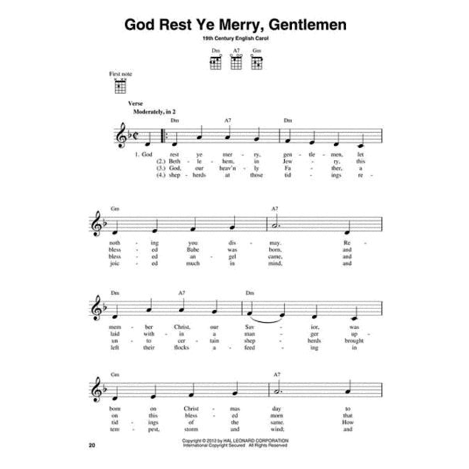 Hal Leonard - 3-Chord Christmas Carols for Ukulele