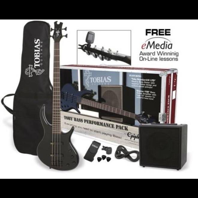 Epiphone - Toby Standard IV Bass Performance Pack, Ebony