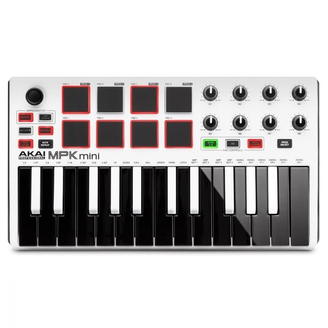 Akai - MPK Mini Mk3 Compact Controller w/White