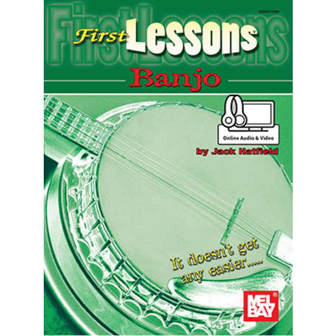 Mel Bay - First Lessons, Banjo (w/online audio & video access)
