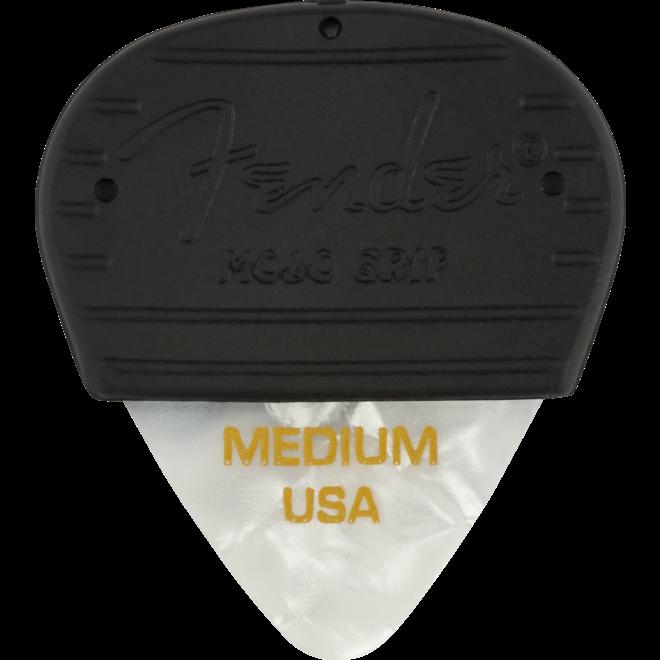 Fender - Mojo Grip Picks, Celluloid, Medium, 3-Pack, White Moto