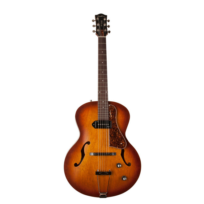 Godin - 5th Avenue Kingpin Arch Top Acoustic w/P90 Pickup, Cognac Burst