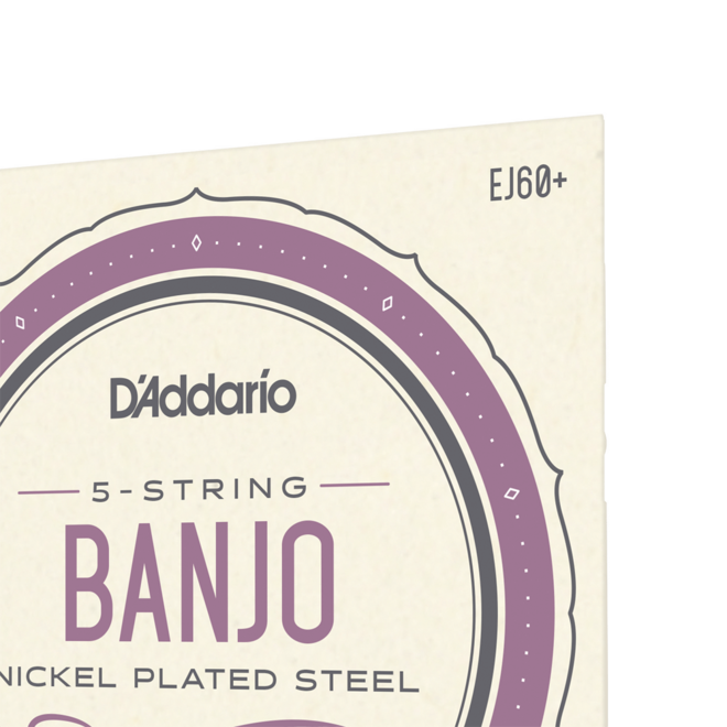 D'Addario - Nickel Wound, Light Plus 5 String Banjo Strings