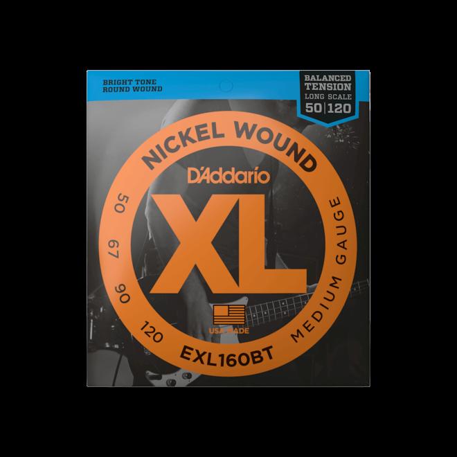 D'Addario - EXL160BT XL 4 String Bass, 50-120 Long Scale (C/C# Tuning)