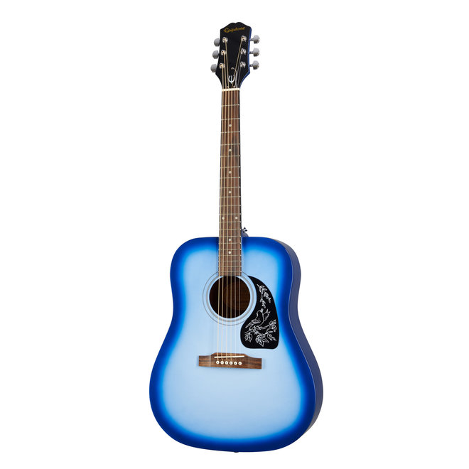 Epiphone - Starling, Square Shoulder Dreadnought Acoustic, Starlight Blue