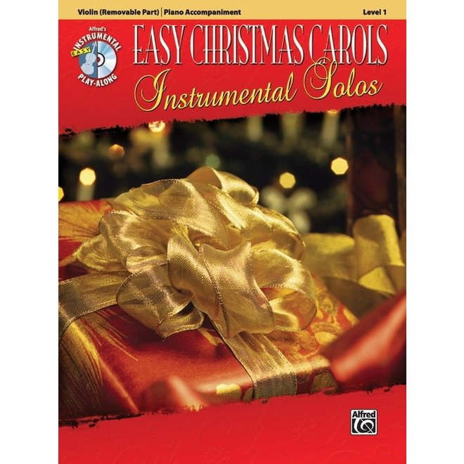 Alfred's - Easy Christmas Carols Instrumental Solos (Violin), Book and CD