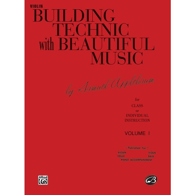 Alfred/Belwin -  Building Technic with Beautiful Music, Violin, Volume 1