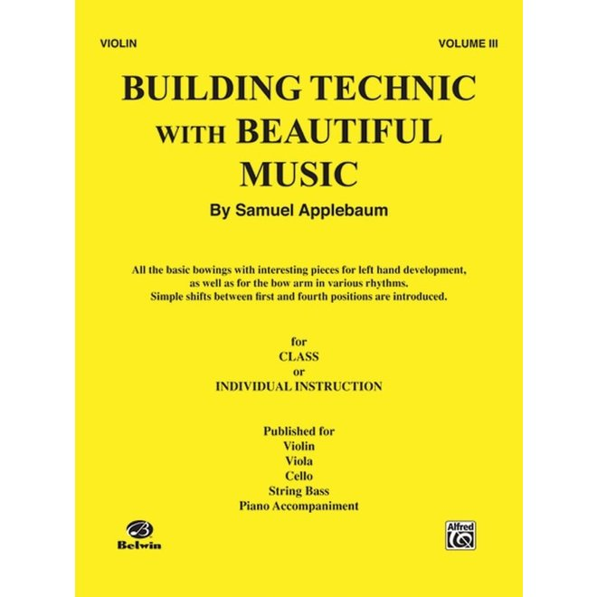 Alfred/Belwin - Building Technic with Beautiful Music, Volume 3