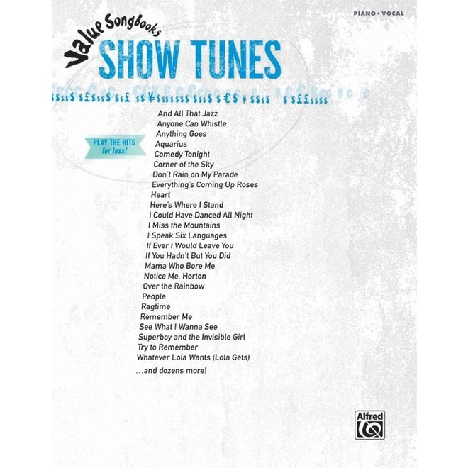 Alfred's - Value Songbooks: Show Tunes