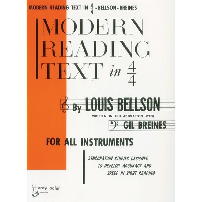 Alfred's - Modern Reading Text in 4/4