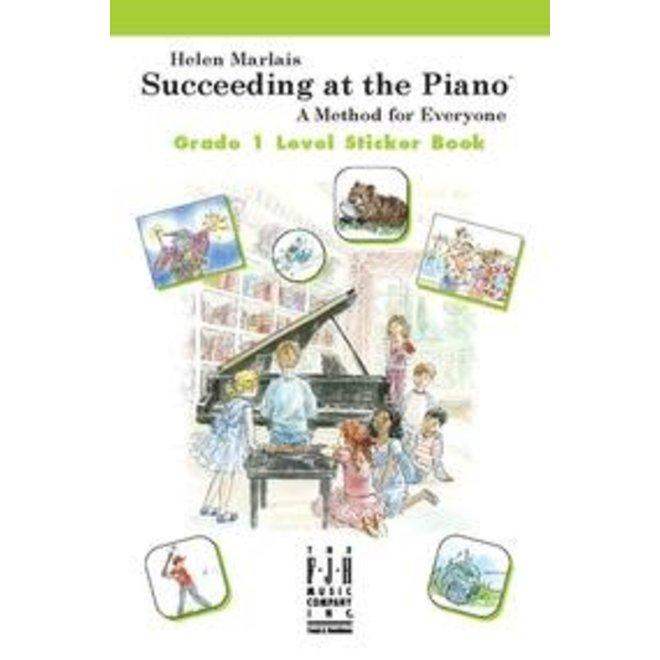 FJH - Helen Marlais' Succeeding at the Piano, Grade 1, Sticker Book (1st Edition)