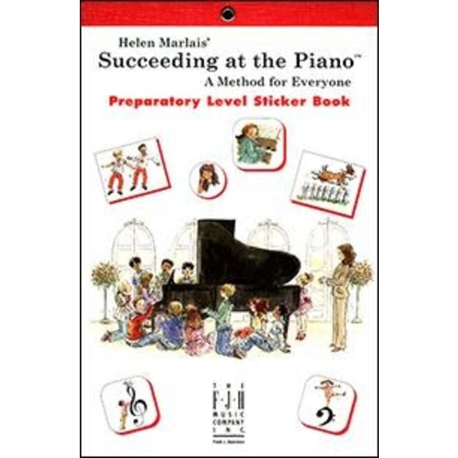 FJH - Helen Marlais' Succeeding at the Piano, Preparatory, Sticker Book (1st Edition)