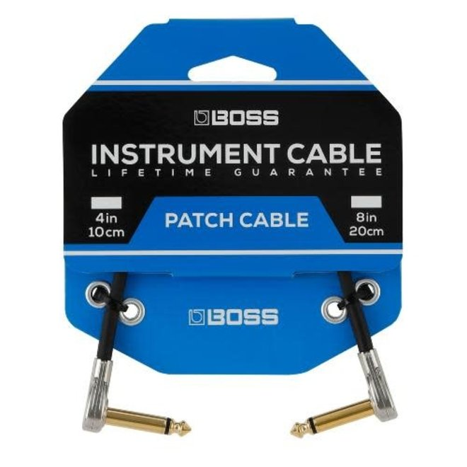 """Boss - Patch Cable with Pancake Jacks, 4"""""""