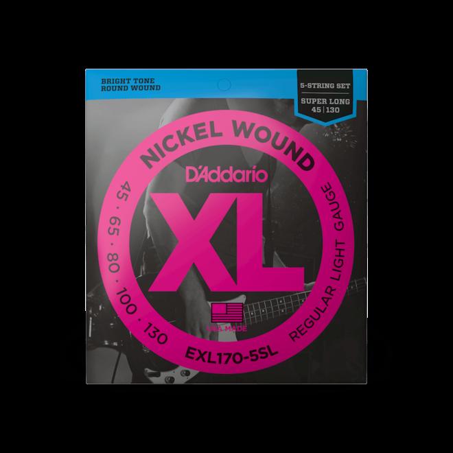 D'Addario - EXl170-5SL XL 5 String Bass, 45-130 Super Long Scale