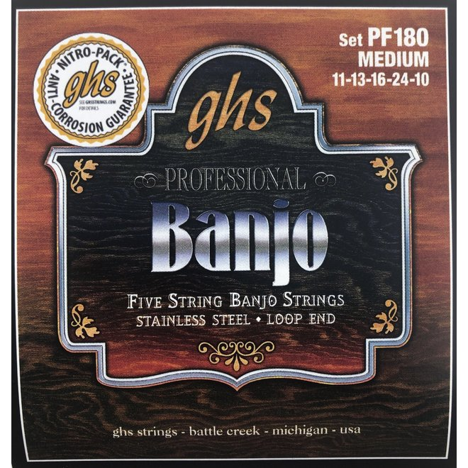 GHS - 5 String Banjo Strings, Medium