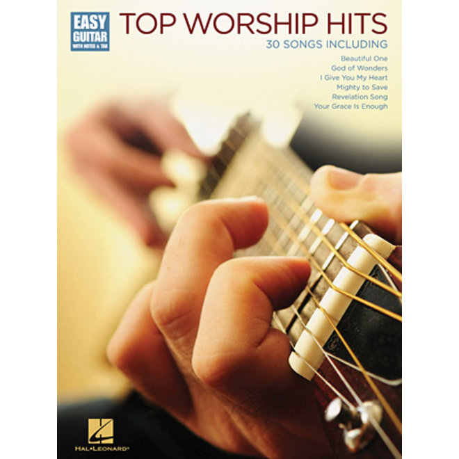Hal Leonard - Top Worship Hits Easy Guitar, Easy Guitar w/Notes & Tab