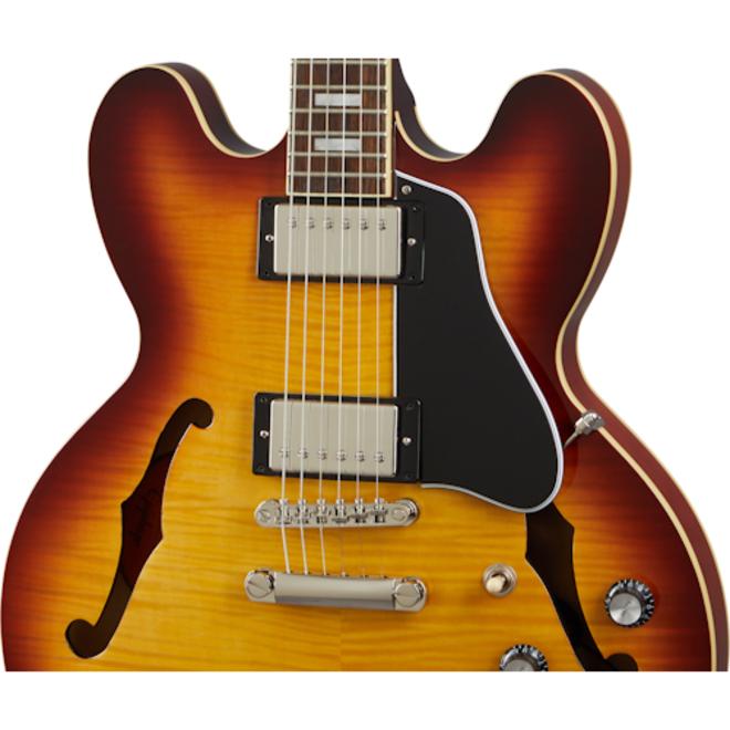 Epiphone - ES-335 Figured Archtop Hollowbody Electric Guitar,  Raspberry Tea Burst