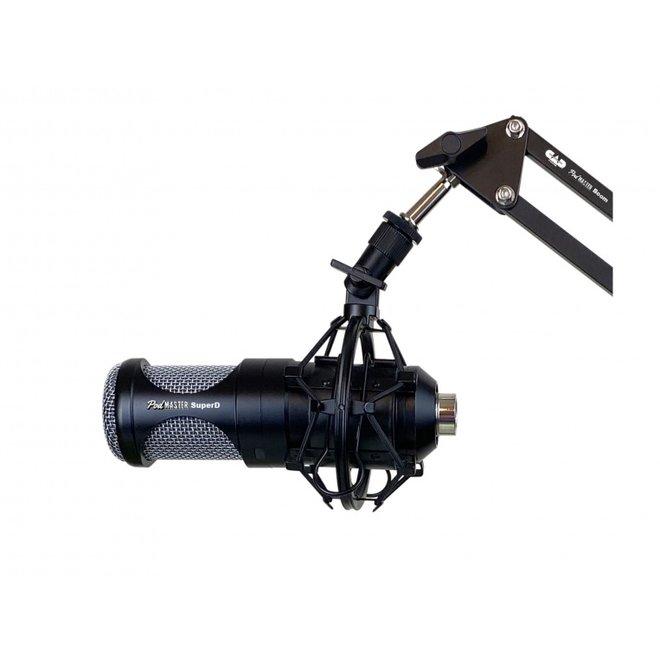 CAD - Dynamic XLR Broadcast/Podcasting Microphone w/ broadcast boom arm