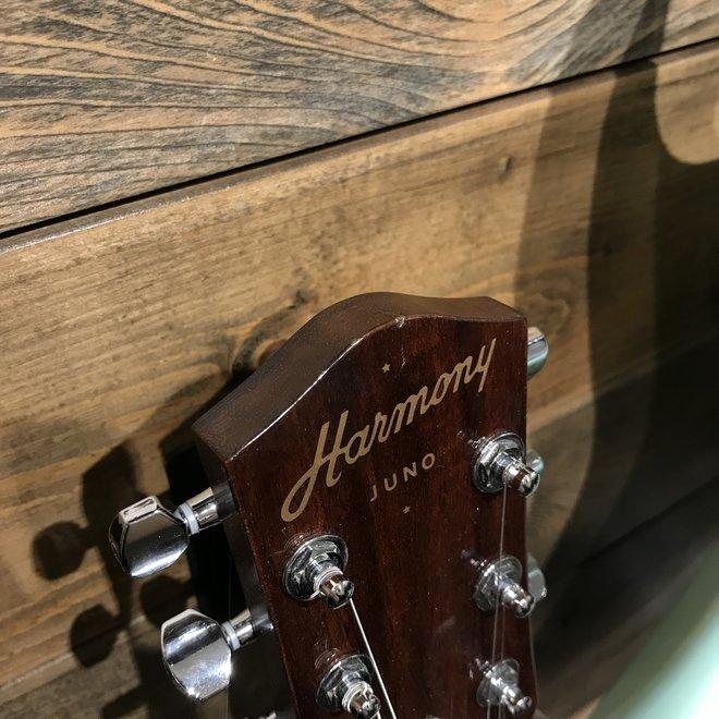 Harmony - Juno Electric Guitar, Champagne w/Deluxe Mono Case