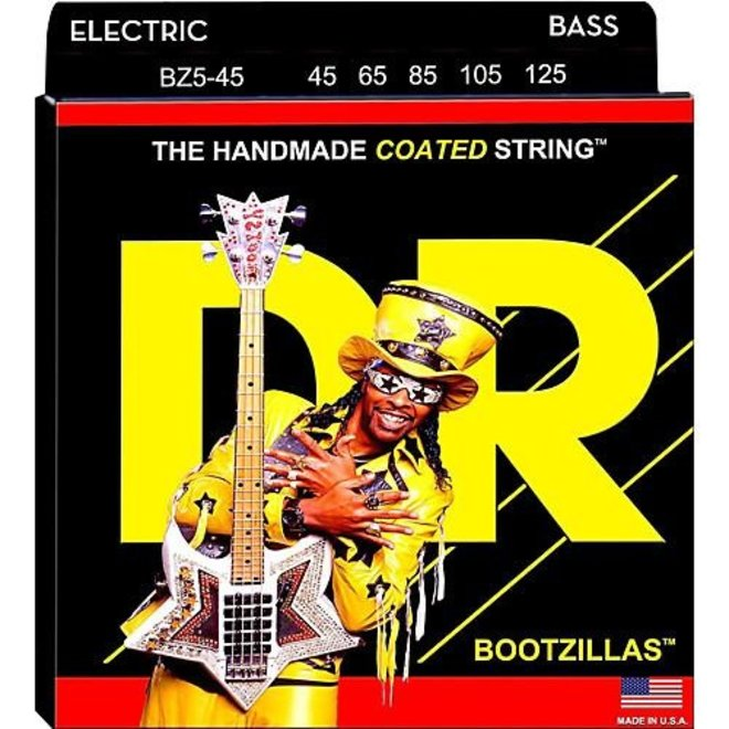 DR - Bootzillas Coated 5 String Bass, 45-125