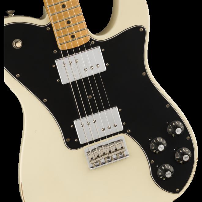 Fender - Vintera Road Worn '70s Telecaster Deluxe, MN, Olympic White w/Gigbag