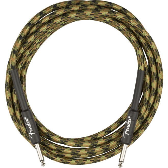 Fender - Professional Series Instrument Cable, Straight/Straight, 18.6', Woodland Camo