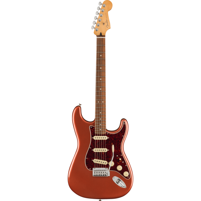 Fender - Player Plus Stratocaster, Pau Ferro Fingerboard, Aged Candy Apple Red