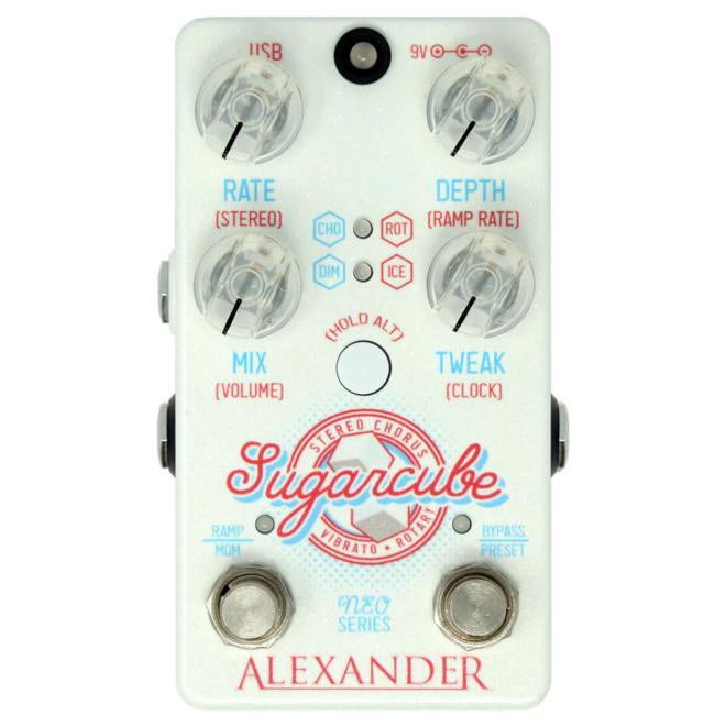 Alexander Pedals - Sugarcube Stereo Chorus/Vibrato/Rotary Modulation Pedal