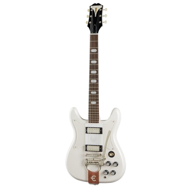 Epiphone - Crestwood Custom Electric Guitar w/Tremotone Tailpiece, Polaris White