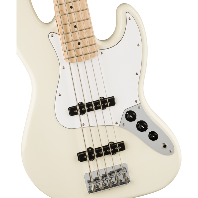 Squier Affinity Series Jazz Bass V, Maple Fingerboard, Olympic White