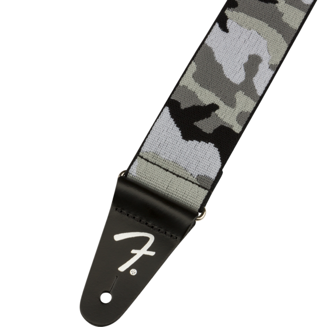 """Fender - 2"""" WeighLess Tweed Strap, Gray Camo"""