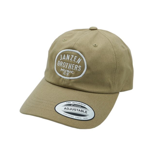JB Music Co. Dad Hat, Khaki, Embroidered Oval Logo