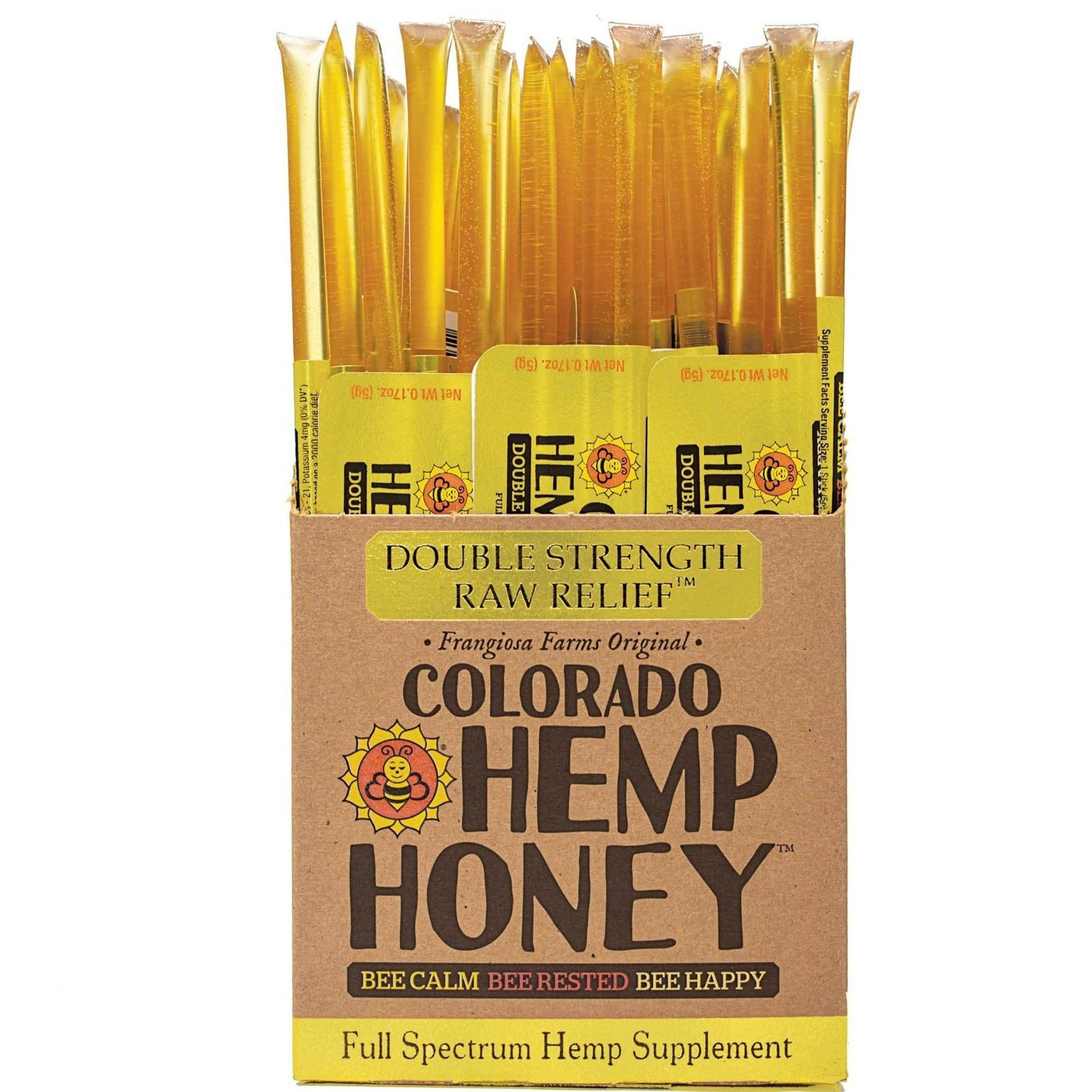 Hemp Honey Sticks -Double Strength - with THC