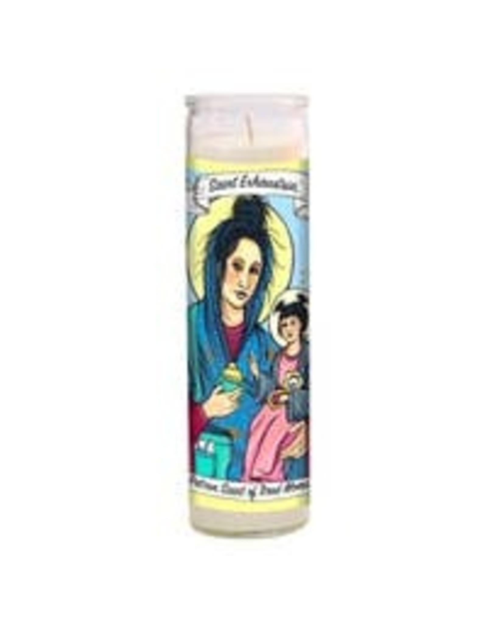 Saint Exhaustia Candle