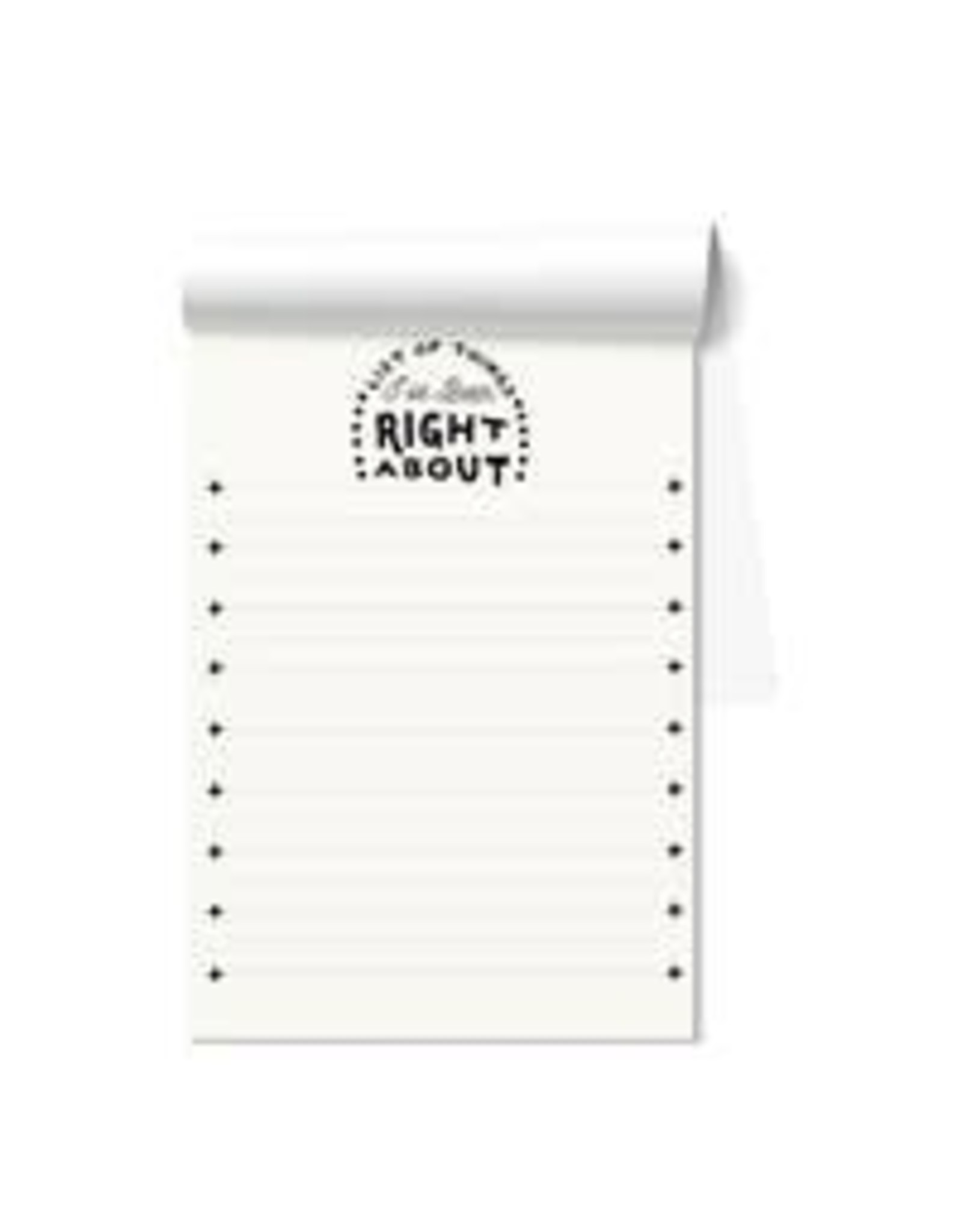 List of ThingsList Of Things I Have been Right About Notepad