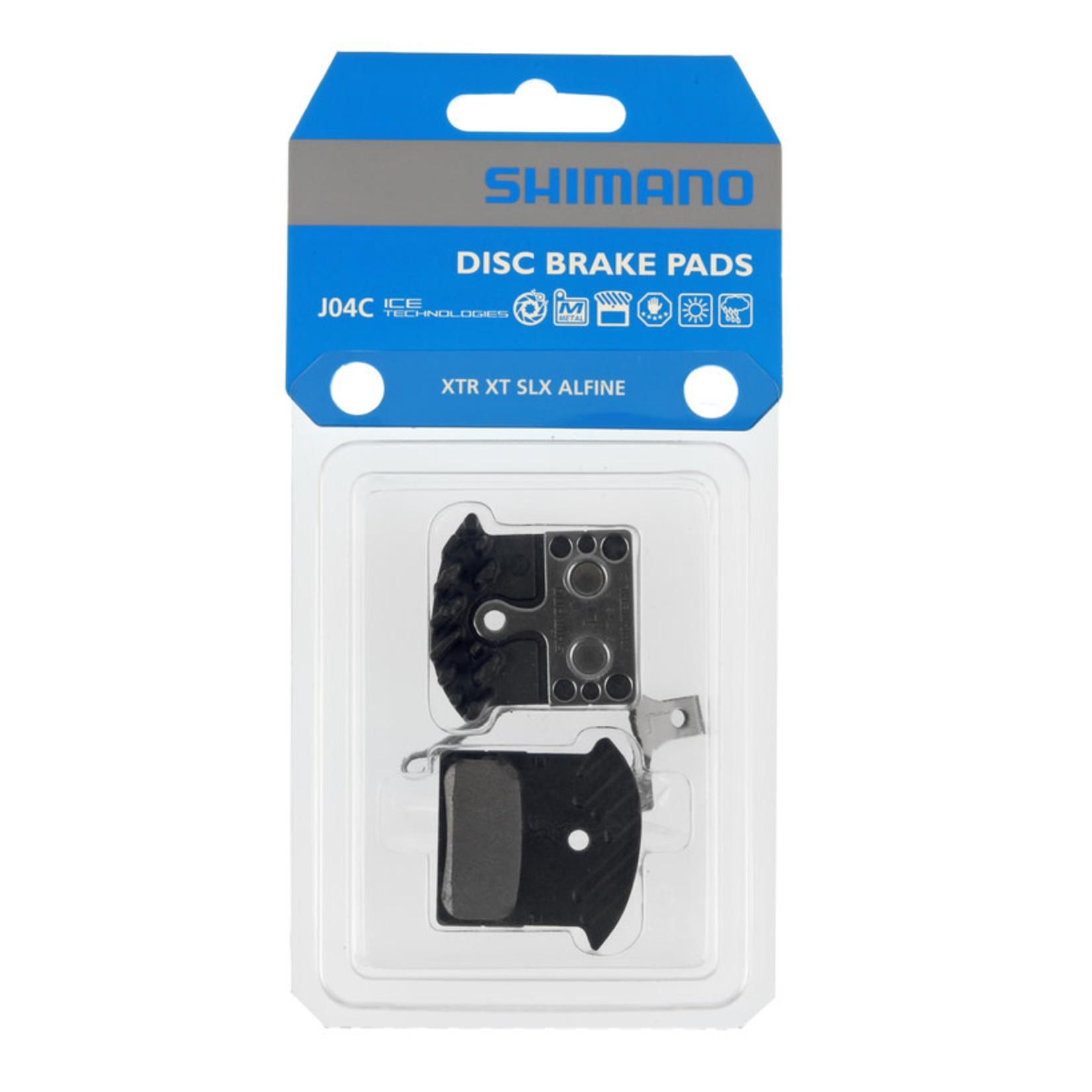 Shimano Shimano J04C Disc Brake Pads, Metal w/fin
