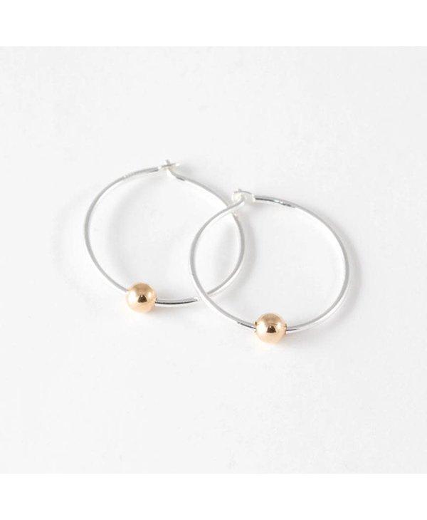Boucles d'oreilles anneaux Dormeuses-argent-grand
